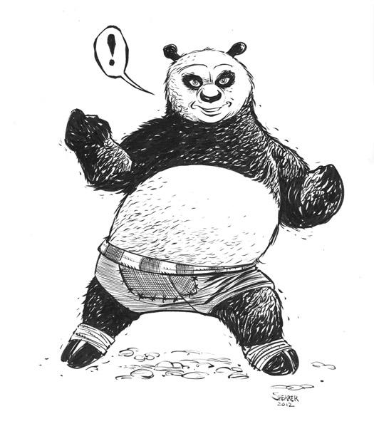 Daily Sketch: Kung Fu Panda