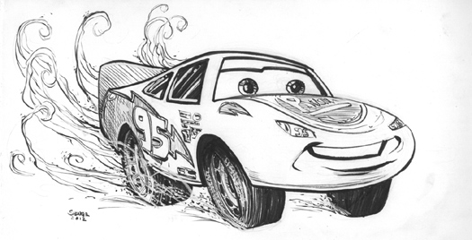 Daily Sketch: Lightning McQueen from Pixar's Cars