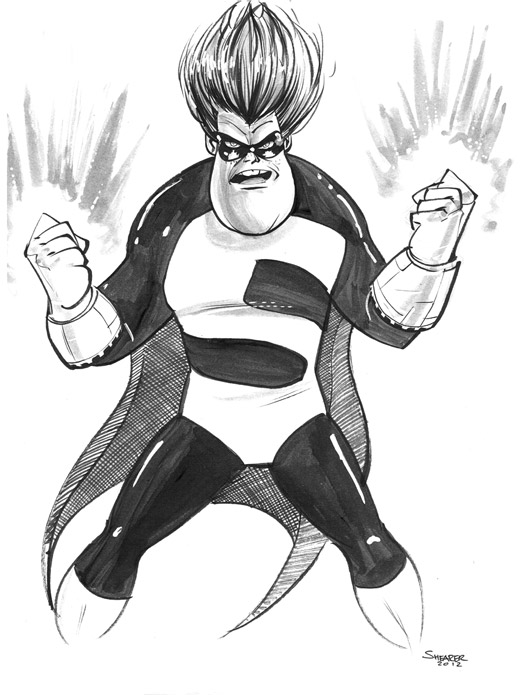Daily Sketch: Syndrome from Pixar's The Incredibles